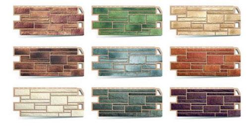 Цветовые варианты панелей под камень