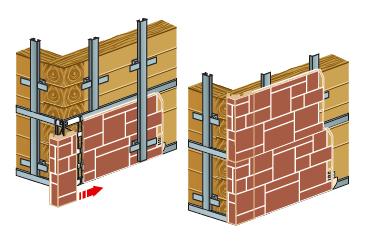 Структура каменных панелей