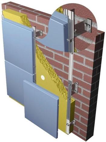 Пример монтажа фасадных кассет