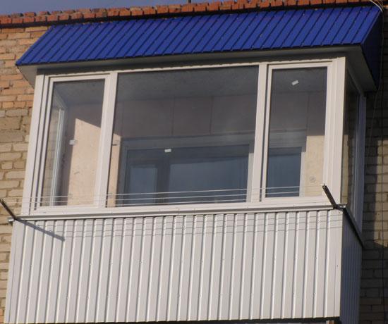 отделки балконов профнастилом фото