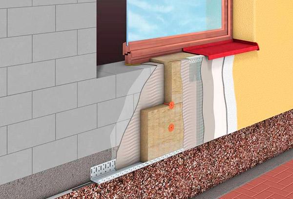 Утепление фасада базальтовыми плитами