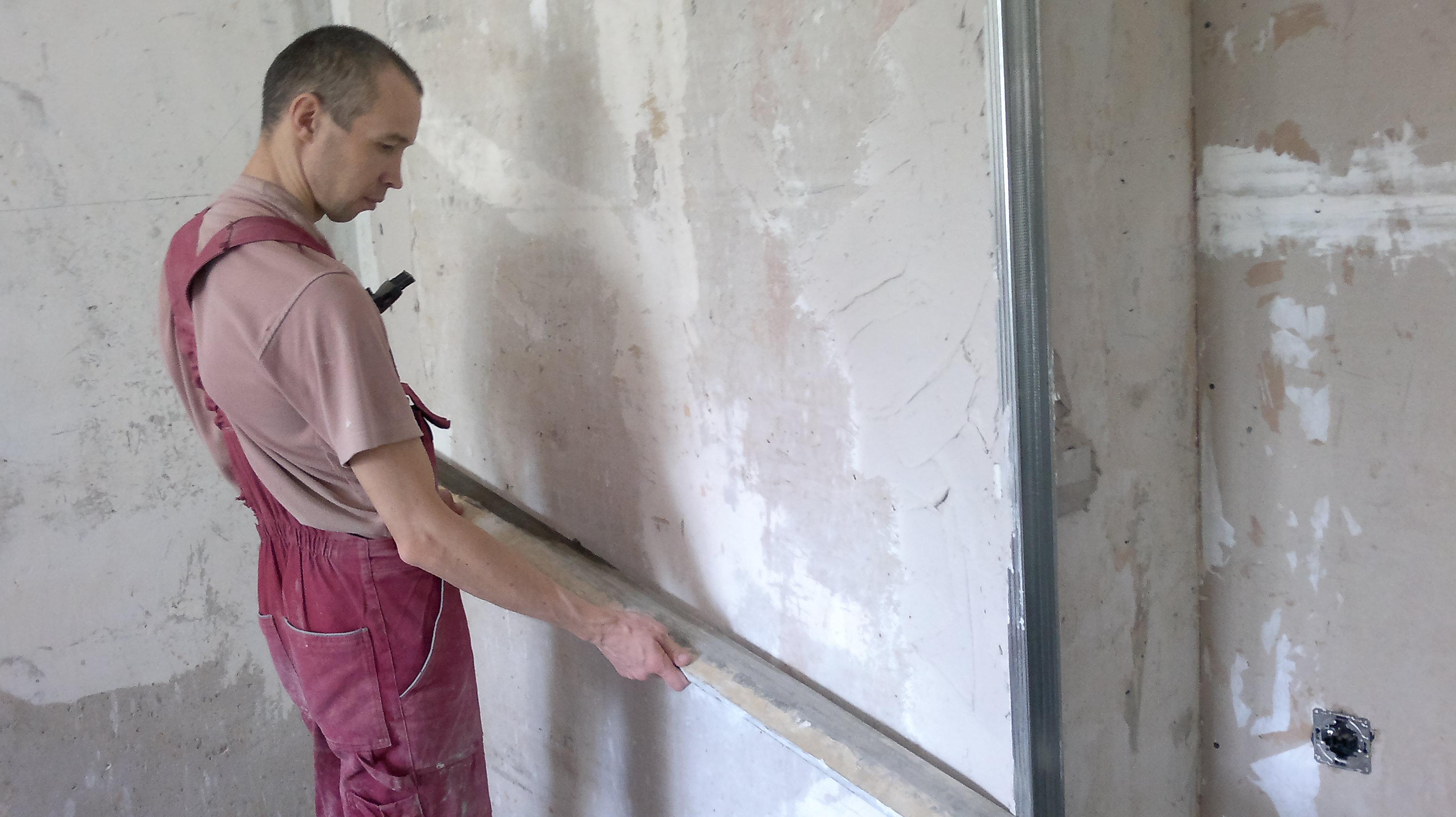 Штукатурка стен своими руками фото